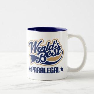 世界のベストのパラリーガル ツートーンマグカップ