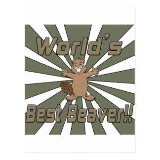世界のベストのビーバー ポストカード