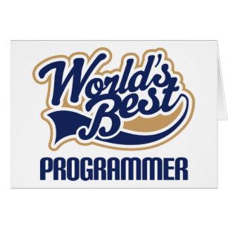 世界のベストプログラマー グリーティングカード