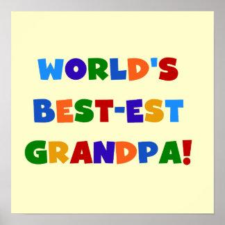 世界のベスト米国東部標準時刻の祖父明るい色のギフト ポスター
