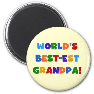 世界のベスト米国東部標準時刻の祖父明るい色のギフト マグネット