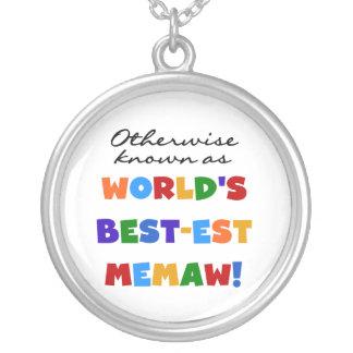 世界のベスト米国東部標準時刻Memawとしてさもなければ知られていて シルバープレートネックレス