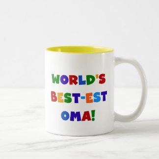 世界のベスト米国東部標準時刻Oma明るい色のギフト ツートーンマグカップ
