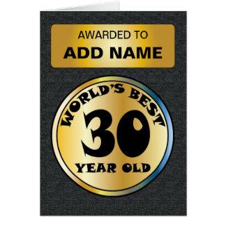 世界のベスト30 カード