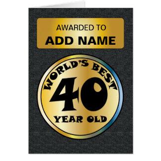 世界のベスト40 カード