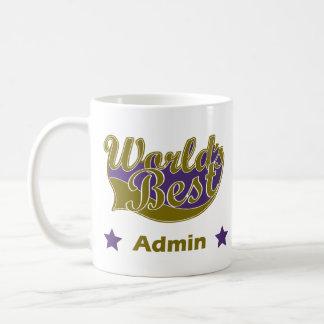 世界のベストAdmin コーヒーマグカップ