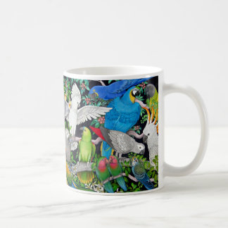 世界のマグのカラフルなペットオウム コーヒーマグカップ