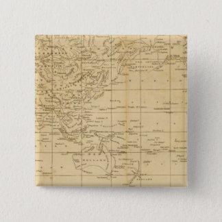 世界のメルカトル図法 5.1CM 正方形バッジ