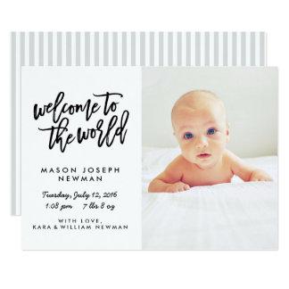 世界のモダンな誕生の発表への歓迎 カード