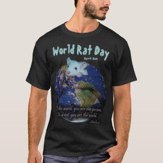 世界のラット日のワイシャツ、バージョン2 Tシャツ