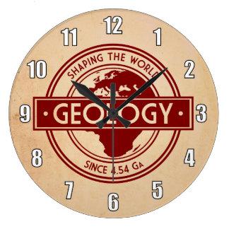 世界のロゴを形づける地質学(ヨーロッパかアフリカ) ラージ壁時計