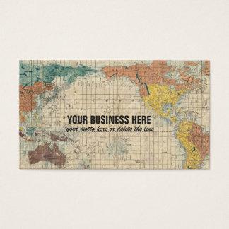 世界のヴィンテージの日本のな地図 名刺