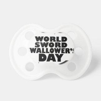 世界の剣のSwallowerの日-感謝日 おしゃぶり