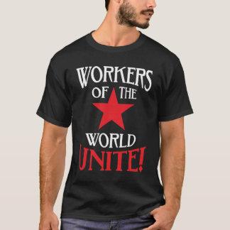 世界の労働者は社会主義赤い星を結合します Tシャツ