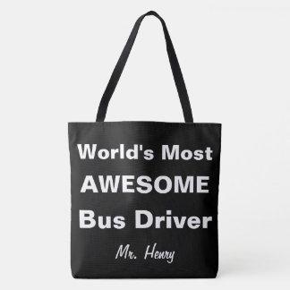 世界の名前入りな最も素晴らしいバス運転手 トートバッグ