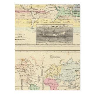 世界の地図 はがき