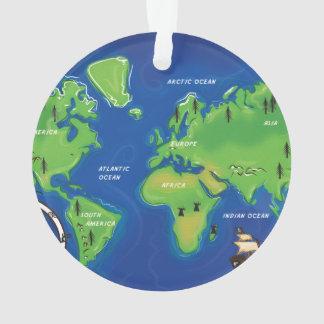 世界の地図 オーナメント