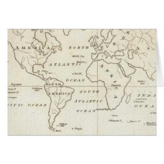 世界の地図 カード