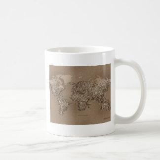 世界の地図 コーヒーマグカップ