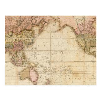 世界の地図 ポストカード