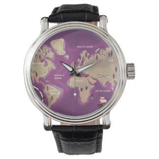 世界の地図 腕時計