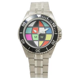 世界の地球色の時間 腕時計