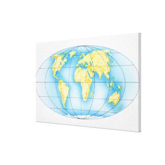 世界の地球 キャンバスプリント