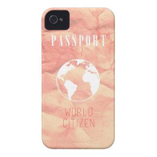 世界の市民のパスポートのピンクのiPhoneの場合 Case-Mate iPhone 4 ケース