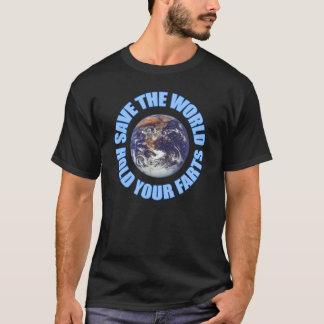 世界の把握をあなたの屁救って下さい Tシャツ
