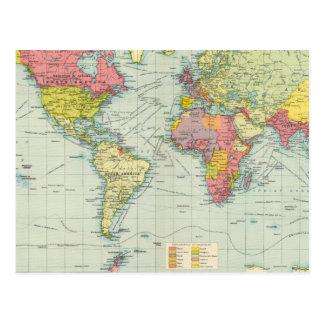 世界の政治地図 ポストカード