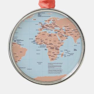 世界の政治地図 メタルオーナメント