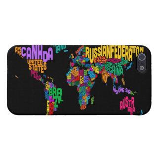 世界の文字地図 iPhone SE/5/5sケース