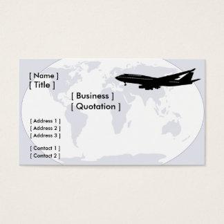 世界の旅行または交通機関の名刺 名刺
