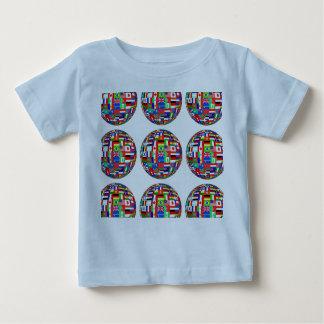 世界の旗 ベビーTシャツ