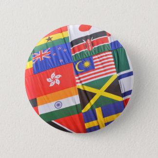 世界の旗 5.7CM 丸型バッジ