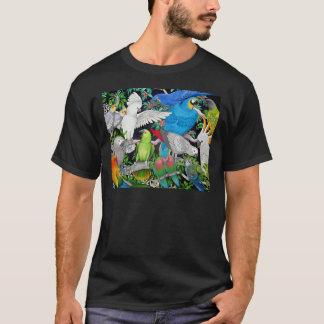 世界の暗闇のTシャツのオウム Tシャツ