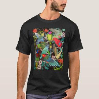 世界の暗闇のTシャツのペットオウム Tシャツ