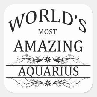 世界の最もすばらしいアクエリアス スクエアシール