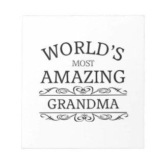 世界の最もすばらしい祖母 ノートパッド