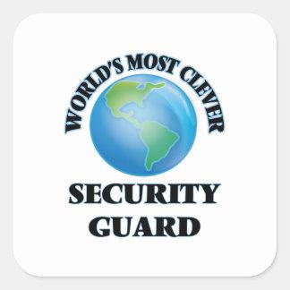 世界の最も利発な警備員 スクエアシール
