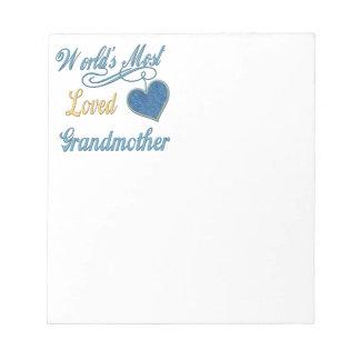 世界の最も愛された祖母 ノートパッド