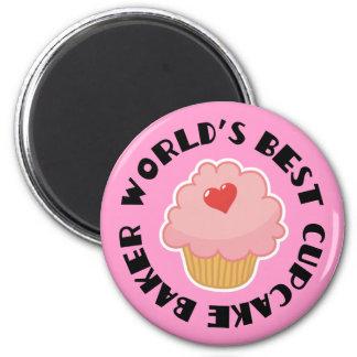 世界の最も最高のなカップケーキのパン屋の料理のギフト マグネット