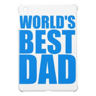 世界の最も最高のなパパの父の日の青い文字デザイン iPad MINIカバー