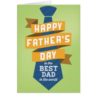 世界の最も最高のなパパへの幸せな父の日 グリーティングカード