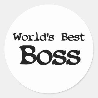 世界の最も最高のなボス ラウンドシール