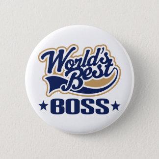 世界の最も最高のなボス 5.7CM 丸型バッジ