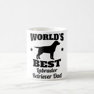 世界の最も最高のなラブラドル・レトリーバー犬のパパ コーヒーマグカップ