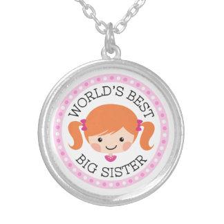 世界の最も最高のな姉の漫画の女の子の赤の毛 シルバープレートネックレス