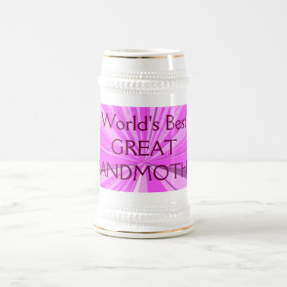 世界の最も最高のな曾祖母ビールステイン ビールジョッキ