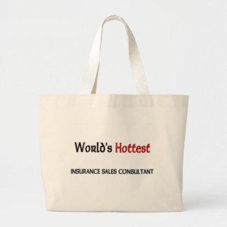 世界の最も熱い保険の販売のコンサルタント ラージトートバッグ